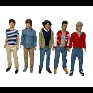 1D One Direction Dolls Set of 5